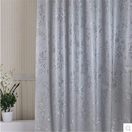 Qingv Shower Curtain Thick Mildew Curtains Silver Premium Waterproof  Shading Curtain Shower Curtains With Hooks,
