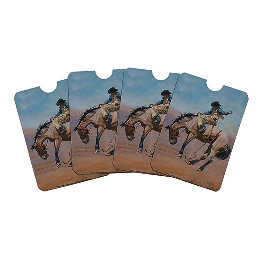 7797b5033016 Saddle Bronc Horse Cowboy Riding Rodeo Event Credit Card RFID ...