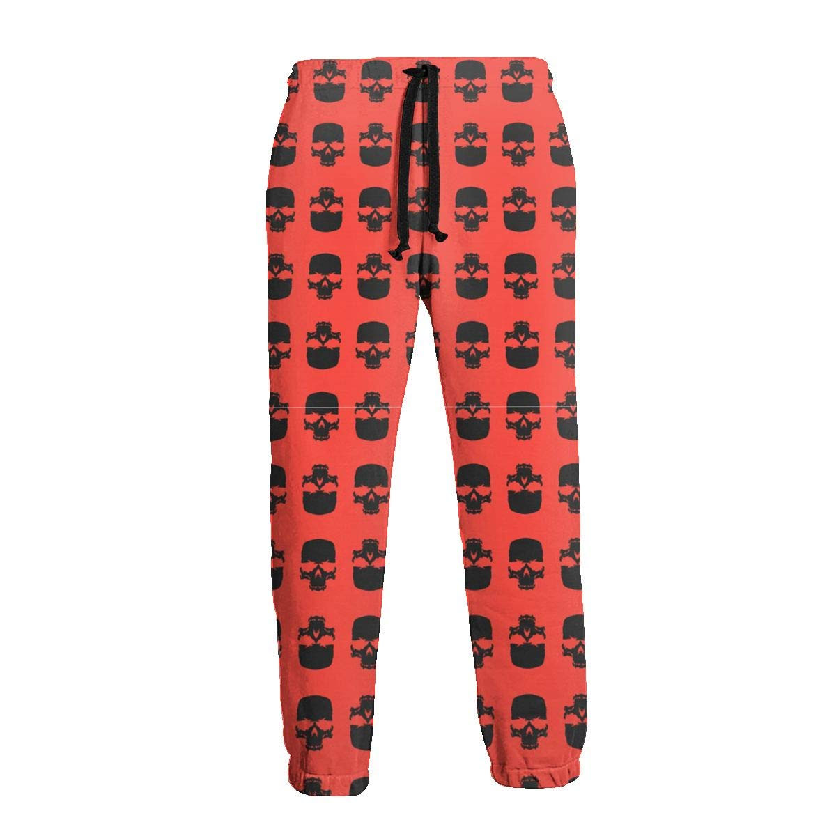 Mens Classic Fit Jogger Sport Pants Skull Sweatpants with Size S-3XL