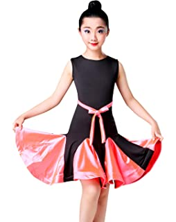 9ccec581a Amazon.com   Happy Cherry Kid Girls Spandex Latin Rumba Samba Dance ...