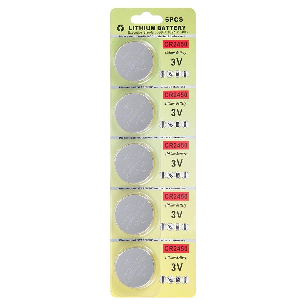 Fortuna 25 Pack CR2450 Batería de 3V El litio CR 2450: Amazon.es: Electrónica