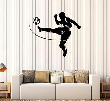 Stickers Muraux Pour Chambre Femme Joueur De Foot Sport Ado