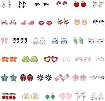 Vathery 1040pcs Fermoirs de Boucles doreilles 10 style Boucles doreilles Stopper Caoutchouc et Plastique
