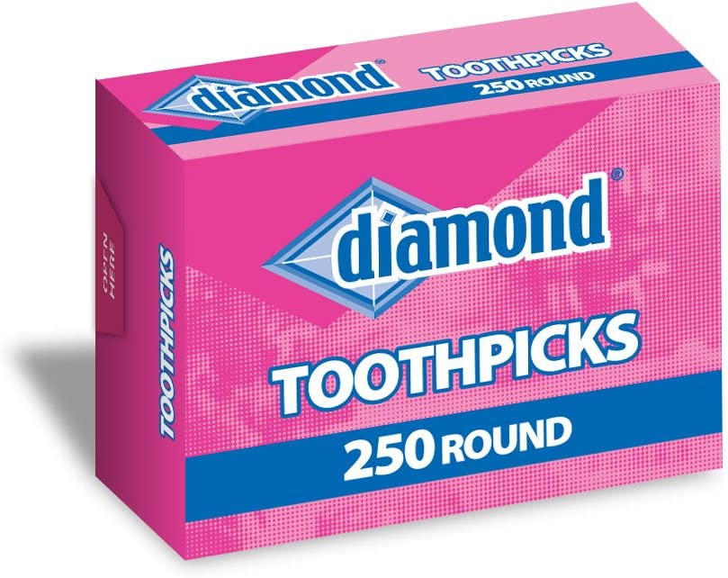 Amazon.com: Diamond 250CT Round Toothpick Box, Pack of 48 boxes: Toothpick  Holders: Kitchen & Dining
