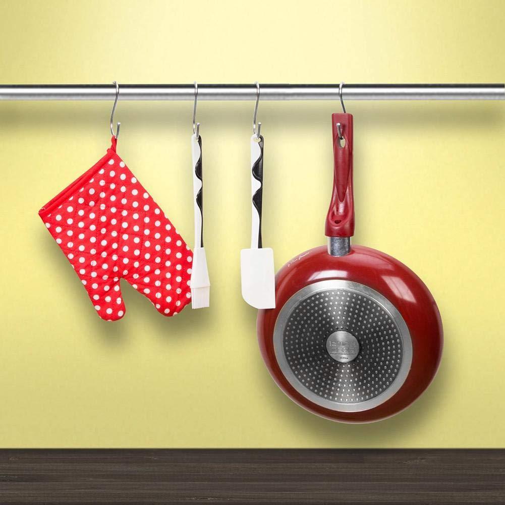 Acero Inoxidable S Ganchos con Forma De Almacenamiento Organizadores Perchas para La Cocina Dormitorio Ba/ño Closet Taller Taller Oficina Esencial goforwealth 10 Piezas Ganchos En Forma De S