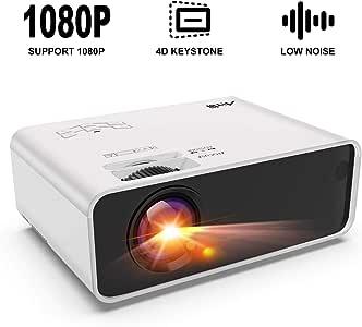 Artlii Enjoy - Mini proyector portátil con corrección Keystone 4D ...