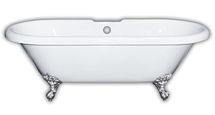 Merveilleux Cambridge Plumbing ADE60 DH BN Acrylic Double Ended Claw Foot Bathtub  60u0026quot; X