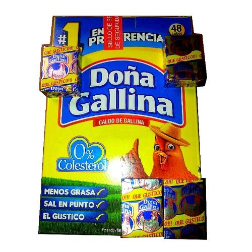 Chicken Bouillon Doña Gallina 48 Cubes Box 528g From Dominican Republic