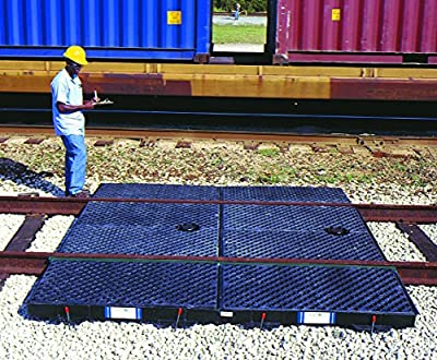 UltraTech 9595 Polyethylene 9' Railroad Spill Containment System, 2 Center and 4 Side Pan