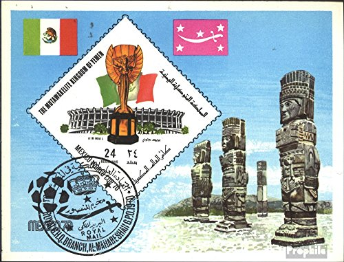 Yemen (UK) block191 (Complete.Issue.) 1970 Football-WM, Mexico (Stamps for Collectors) Soccer