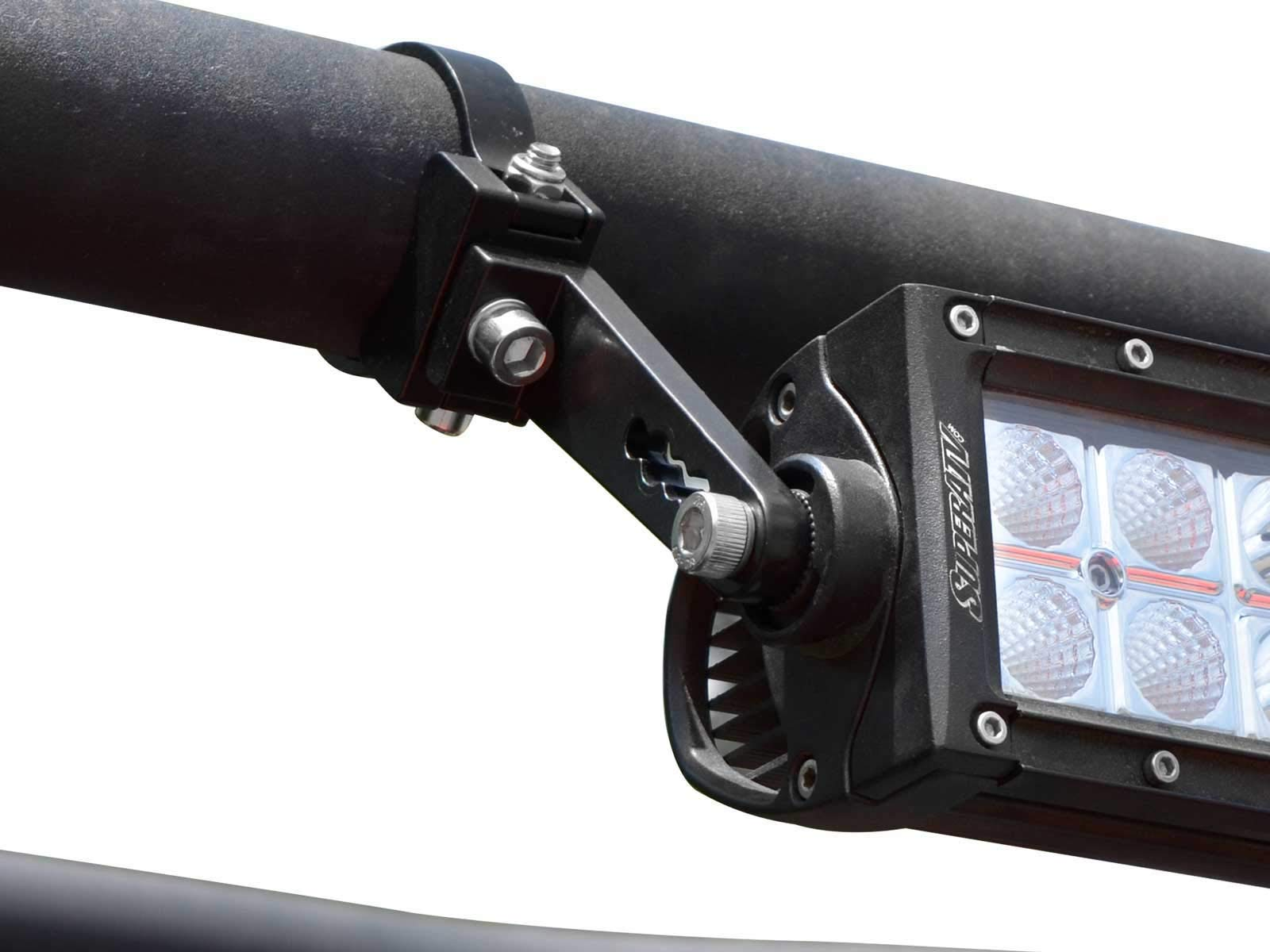 SuperATV Heavy Duty 2'' Aluminum Tube Clamp - Set of 2 - Use to Attach Lights, Mirrors, Speakers, and More!