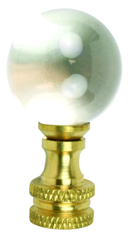 Finial Glss Ball 1-7//8in Brass Jandorf Specialty Hardware 60112