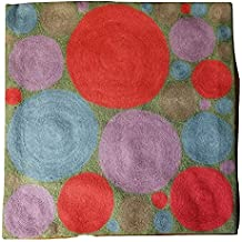 MII HANDICRAFTS Exclusive Hand Made Woolen Throw Cushion Cover Decorative Square - DOTS 18'X18 Warm Wool Thanksgiving Gift