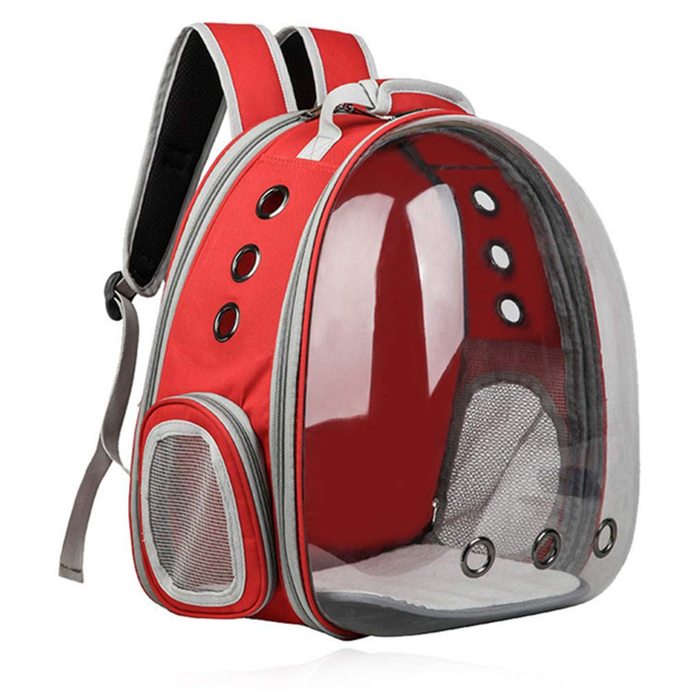 Red (12.211.416.5in)31cm29cm42cm Red (12.211.416.5in)31cm29cm42cm JFRI Pet Carrier Pet cat bag space breathable transparent pet backpack