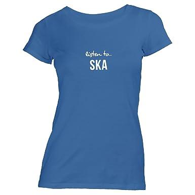 cbc38e61f229a2 Damen T-Shirt - Listen to Ska - Music Fan Musik  Amazon.de  Bekleidung