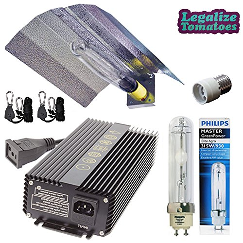 Prism Lighting Science 315w CMH Grow Light Kit- LEC Ceramic Metal Halide High Performance Package - HID Wing Reflector, 315w Watt Ballast 120/240v Volt, Philips 3100K Lamp/Bulb, Mogul Socket Adapter