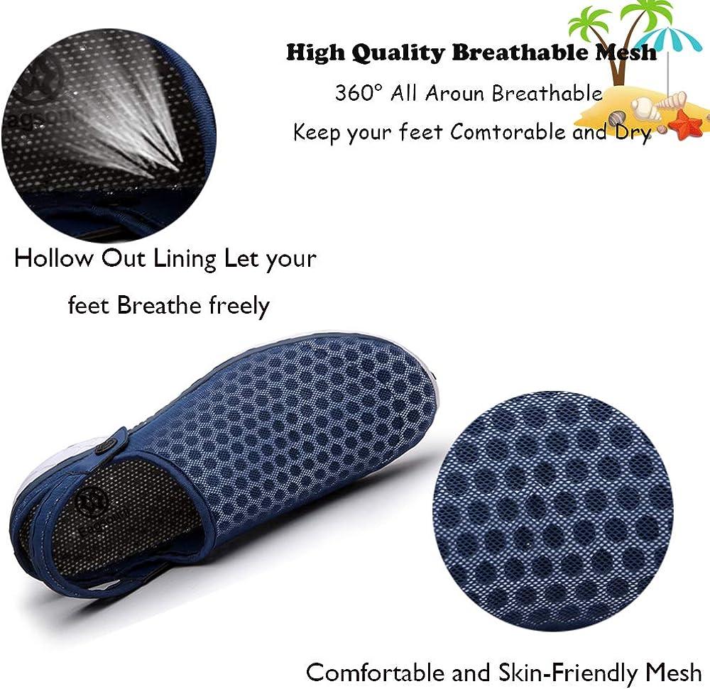 Men Women Mesh Clogs Sandals Breathable Anti-Slip Summer Walking Garden Yard Shoes Quick Dry Beach Slippers Water Shoes 36-48