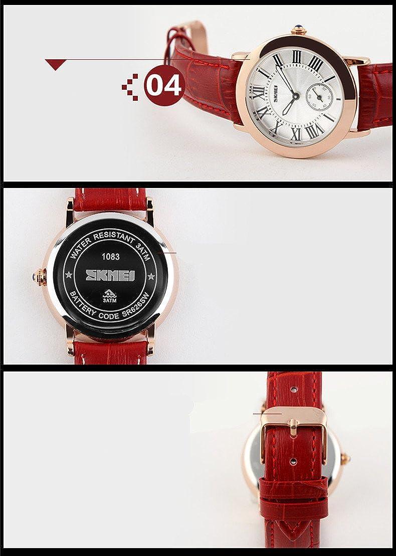 Amazon.com: Relojes de Mujer Women Watches Roman Numbers Casual Women Wristwatch Relogio Feminino RE0031: Watches