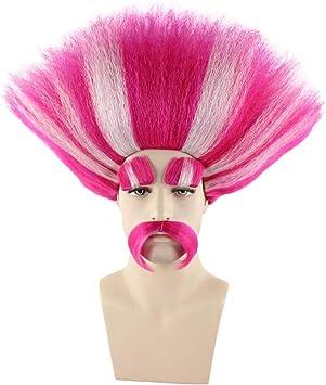 Trols King Peppy + Bridget color rosa & Blanco Cosplay Fiesta ...