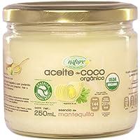 Enature Aceite de Coco Orgánico con Esencia de Mantequilla, 250 ml