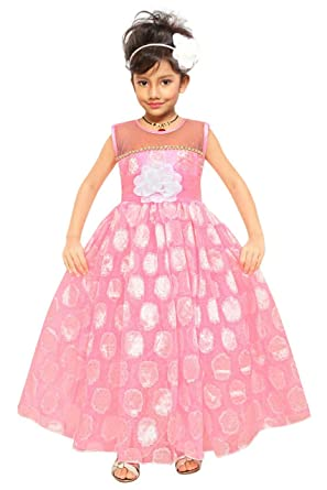f7b2b2c4b0a5 ARK Fashions Girl s Maxi Full Length Gown Frock Dresses Bright Party ...
