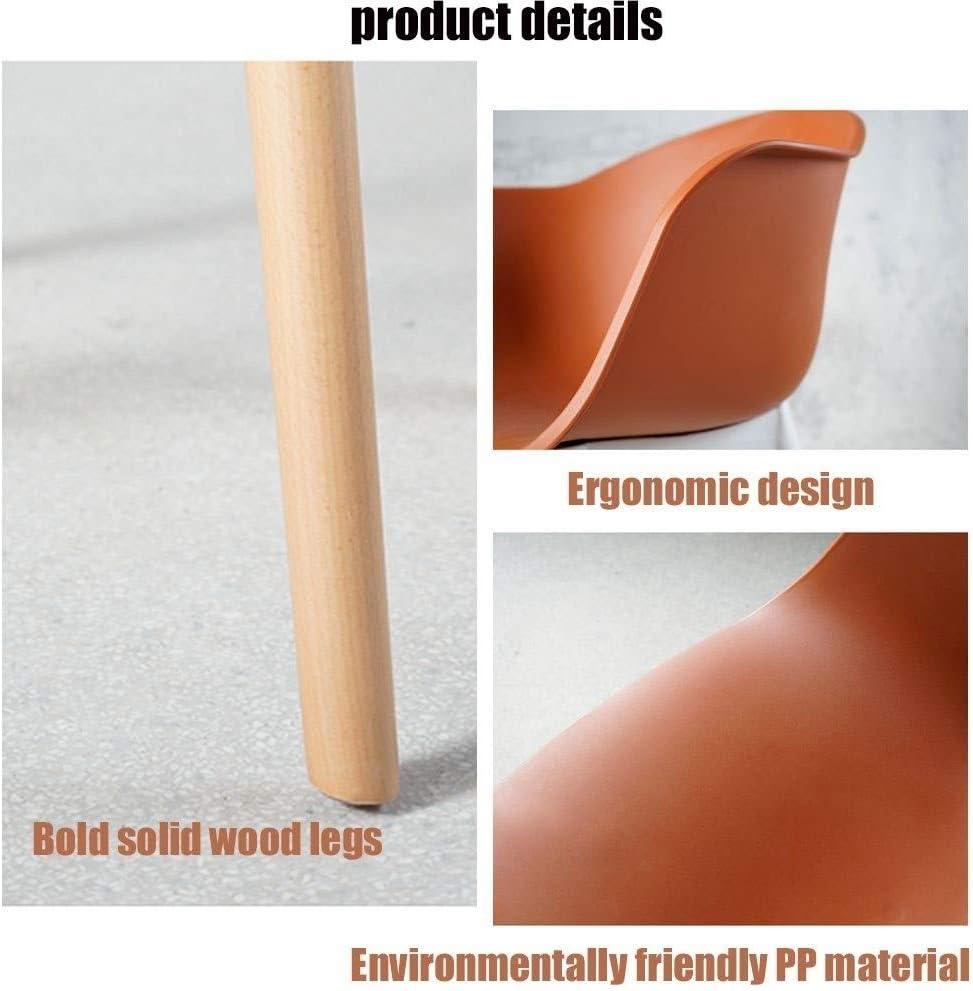 HW Silla de Comedor Silla de Ocio en casa de Nuevo Presidente de diseñador de Moda Creativa (Color : Brown Red) Navy