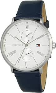 Tommy Hilfiger Women'S White Dial Blue Leather Watch - 1782072