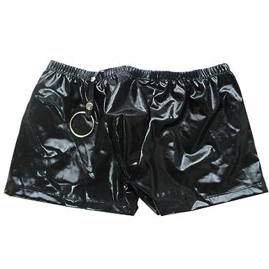 Vêtements Tiaobug Un Sous Avec Sexy Homme Boxer Faux Cuir O Brief En xqrqTXZpw