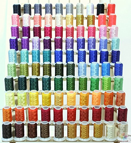 ThreadNanny 100 Brother Colors Cones Polyester Embroidery Thread spool 40wt 1100yards 120D/2