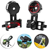Cell Phone Adapter Mount – Compatible with Binocular Monocular Spotting Scope Telescope and Microscope