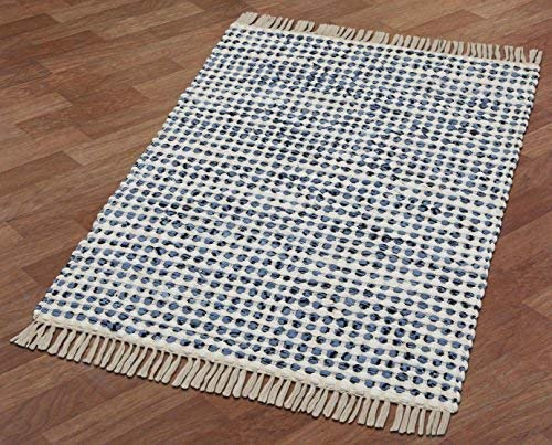 Complex Blue Hand Woven Rug 21 x34 Rug