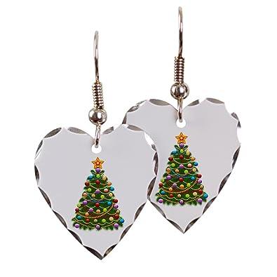 Elegant Christmas Ornaments.Amazon Com Earring Heart Charm Elegant Christmas Tree And