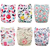 Babygoal Baby Cloth Diapers for Girls, Reusable Adjustable...