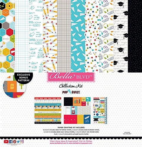 Pop Quiz PQ1891 12'' x 12'' Bella BLVD Collection Kit, Multicolor by Pop Quiz