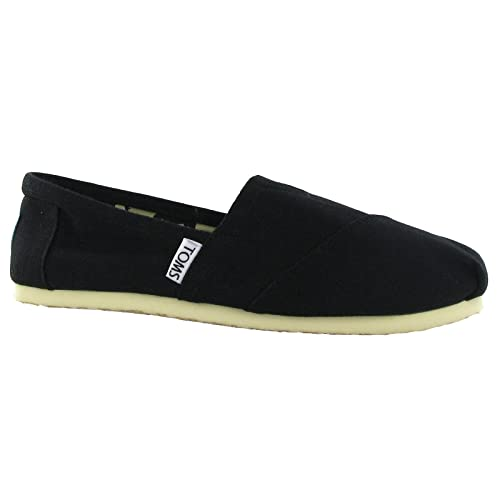 5f850f6722e Image Unavailable. Image not available for. Color  Toms Classic Black Canvas  001001B07 Womens 7.5