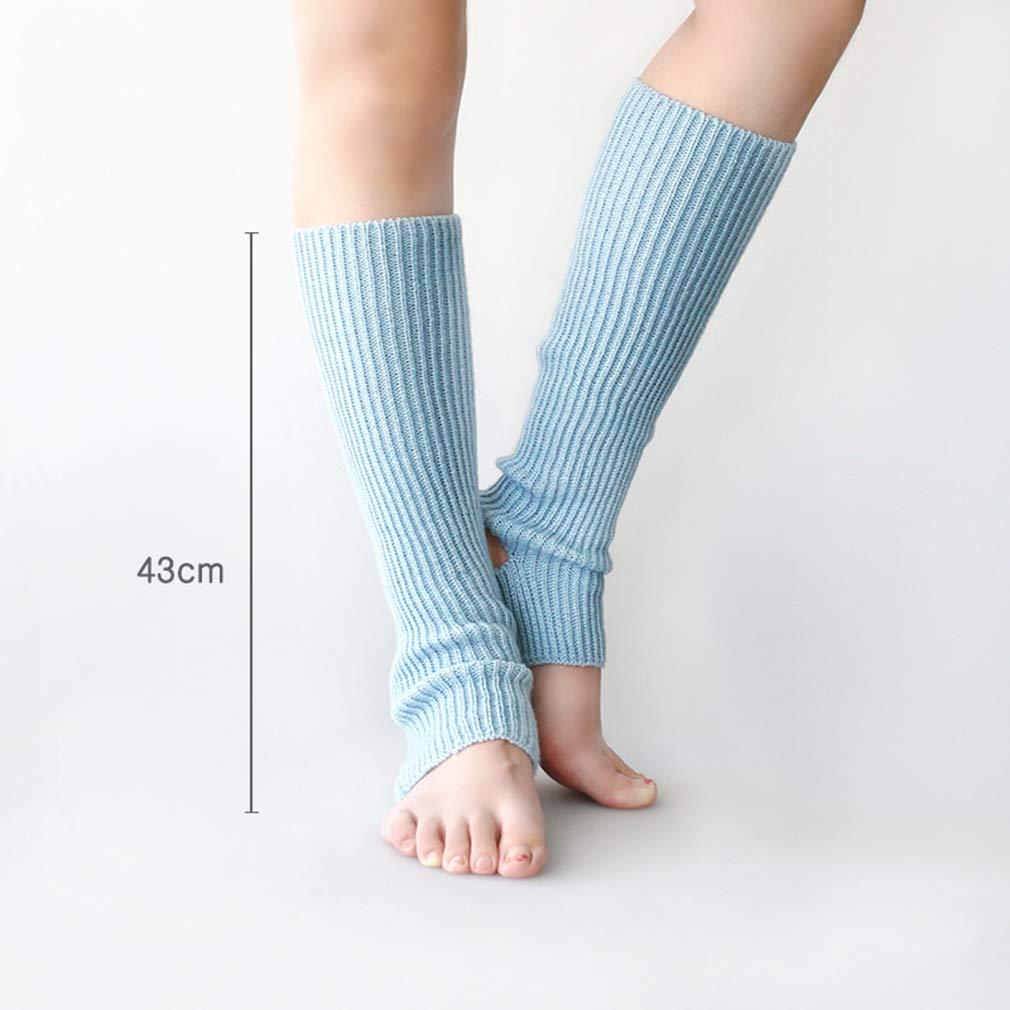 Lefu Mujer Calcetines de Yoga de Punto Largo Deporte ...