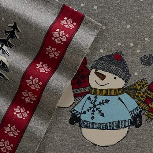 Cuddl Duds Twin Size Flannel Sheet Set (Snowman)