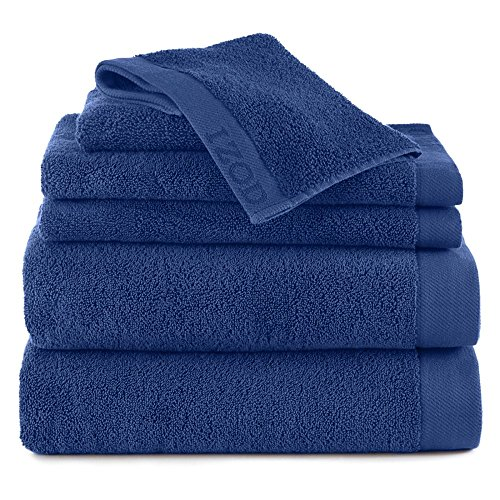 - IZOD CLASSIC EGYPTIAN COTTON 6 PIECE TOWEL SET BY 2 Bath Towels, 2 Hand Towels, 2 Wash Cloths - Premium, Soft, Absorbent - Sport, Home - Machine Washable - Morning Glory