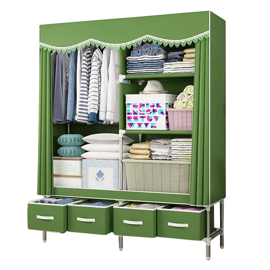 A Simple wardrobe Simple wardrobe 160  45  170cm Steel Tube Oxford Cloth Assembly Storage Wardrobe (color   C)