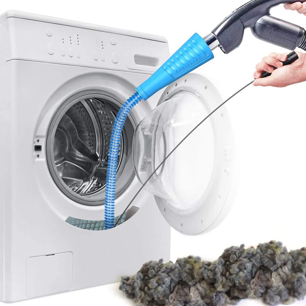 Dryer Vent Cleaner Kit Vacuum Hose Attachment Brush Lint Remover Power Washer and Dryer Vent Vacuum Hose (V2)
