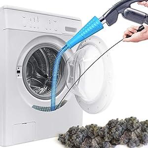 Dryer Vent Cleaner Kit Vacuum Attachment Lint Cleaning Tool Vacuum Hose Lint Cleaner for Dryer Vent (Blue)