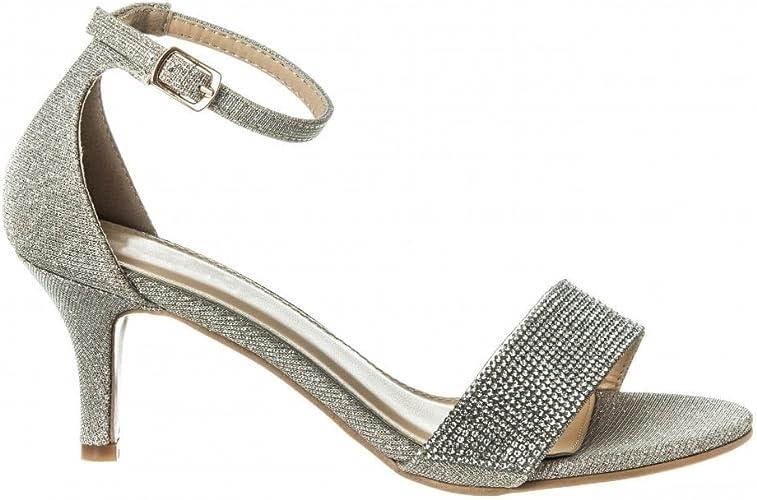 Womens Low Heel Sandals Peep Toe
