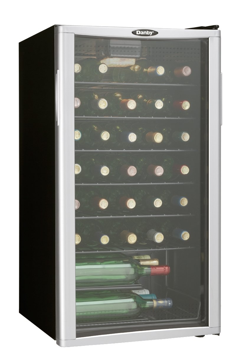 Danby DWC350BLPA 35 Bottle Wine Cooler - Platinum