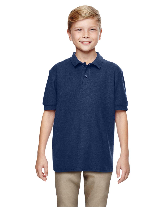 Gildan Boys DryBlend 6.3 oz. Double Piqué Sport Shirt (G728B) -Navy -XL-12PK