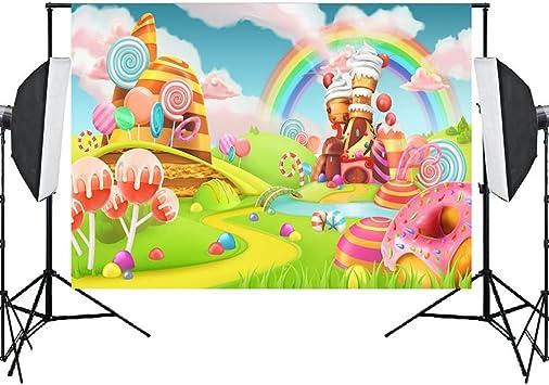 Amazon.com: Fondo de la foto telón de fondo Candyland Props ...