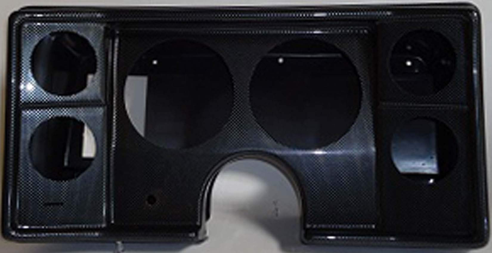 78-81 Chevy G Body Carbon Dash Carrier Panel for 5'', 2-5/8'' Gauges