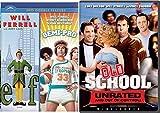 Old School + Semi-Pro & Elf DVD Will Ferrel Collection Comedy Set 3 Movies