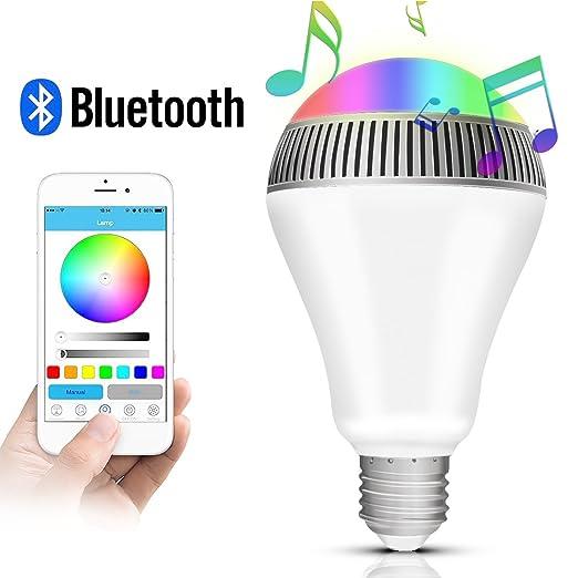 89 opinioni per Morpilot LED Lampadina Intelligente E27 Bluetooth 4.0 Altoparlante / Luce della