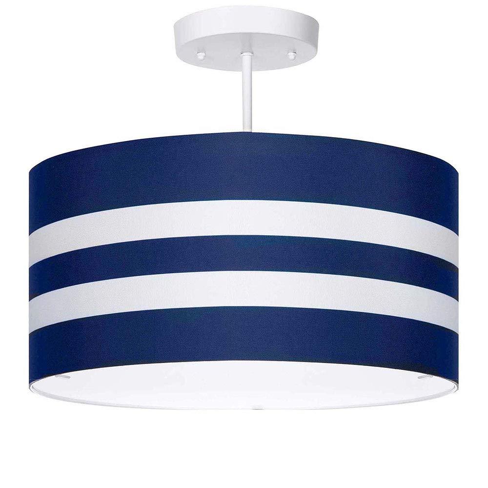 Navy stripes light fixture 3 light amazon com