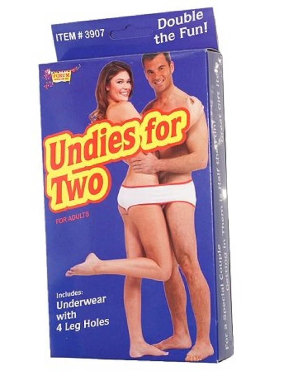 Undies For Two Gag Novelty Romantic Gift